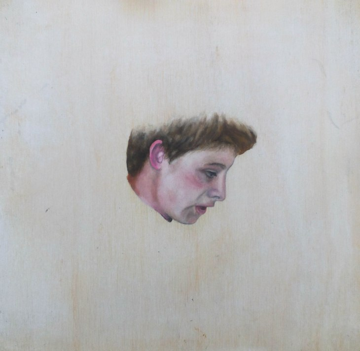 Oil on white-washed wood panel. 200 x 200 mm