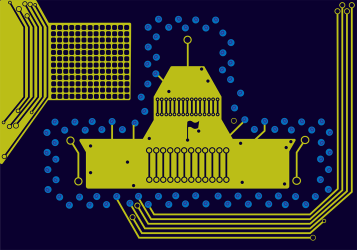 An illustration that accompanied an article in Business Today's Online Journal on Capitol Hill vs. Silicon Valley.